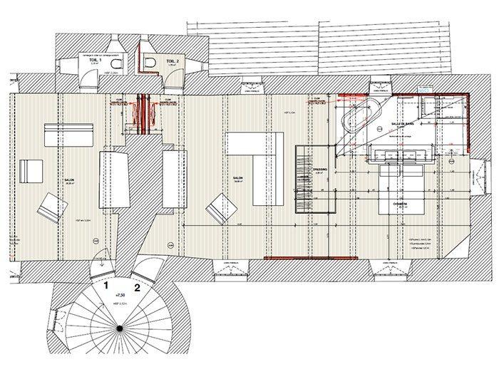 Plan du château de Marsac