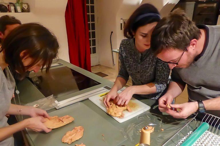 Atelier Foie Gras au Château de Marsac en Corrèze