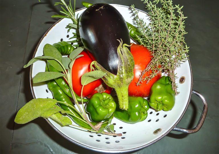Légumes bio du potager pour des repas de qualité au château de marsac