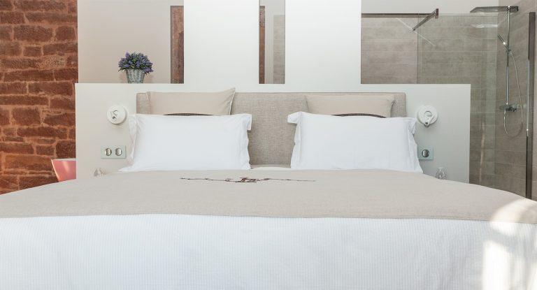 Suite Chêne du château de Marsac : lit