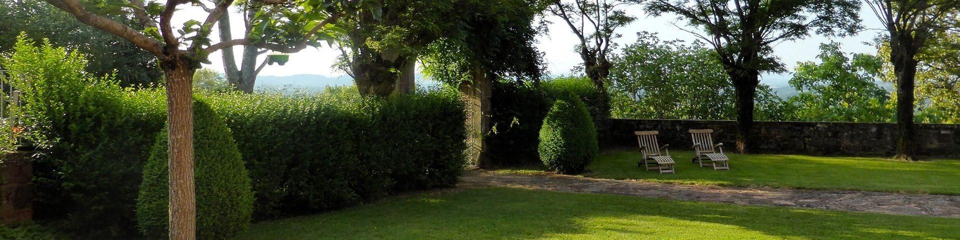 Parc du château de Marsac en Corrèze