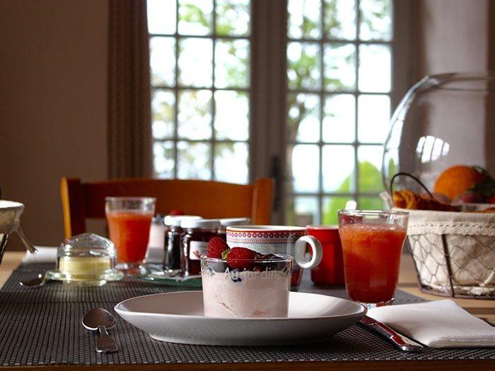 Petit déjeuner au château de Marsac
