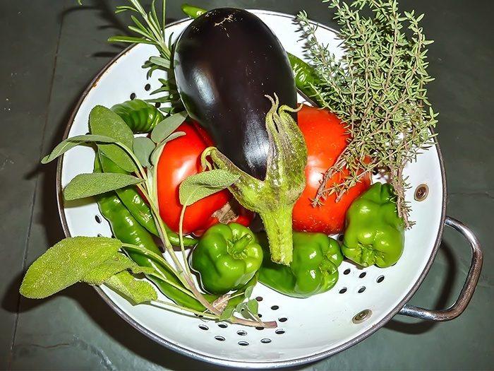 Légumes du potager bio du château de Marsac