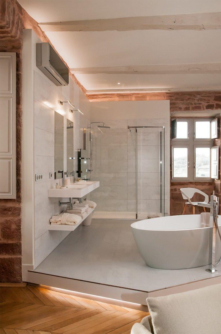 Suite Châtaignier du château de Marsac : salle de bain