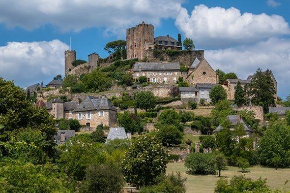 Turenne en Corrèze proche du château de Marsac